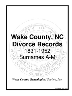 Divorce Records A-M
